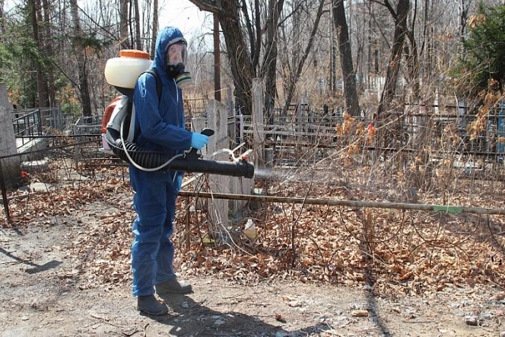 Обработка кладбищ от клещей в Кирове